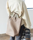 IENA/《追加2予約》【YOUNG&OLSEN/ヤングアンドオルセン】EMBOSSED LEATHER HAVERSACK◆/504376577