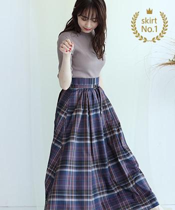 【スカート部門】<br>Mystrada / タックギャザースカート