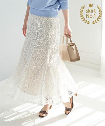 【スカート部門】<br>ROPE' PICNIC / レースマーメイドスカート