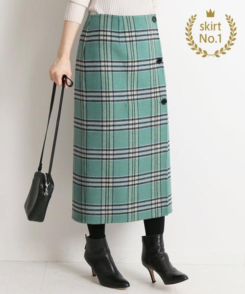 【スカート部門】<br />IENA / Wフェイスリバーシブルスカート