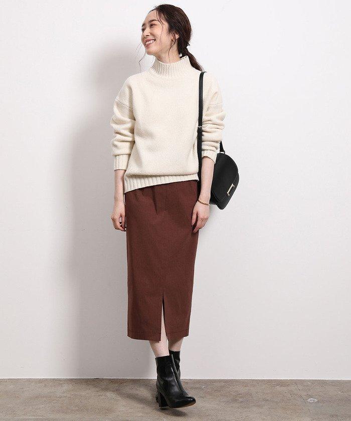 【2019年秋】ブラウンのスカートのコーデ
