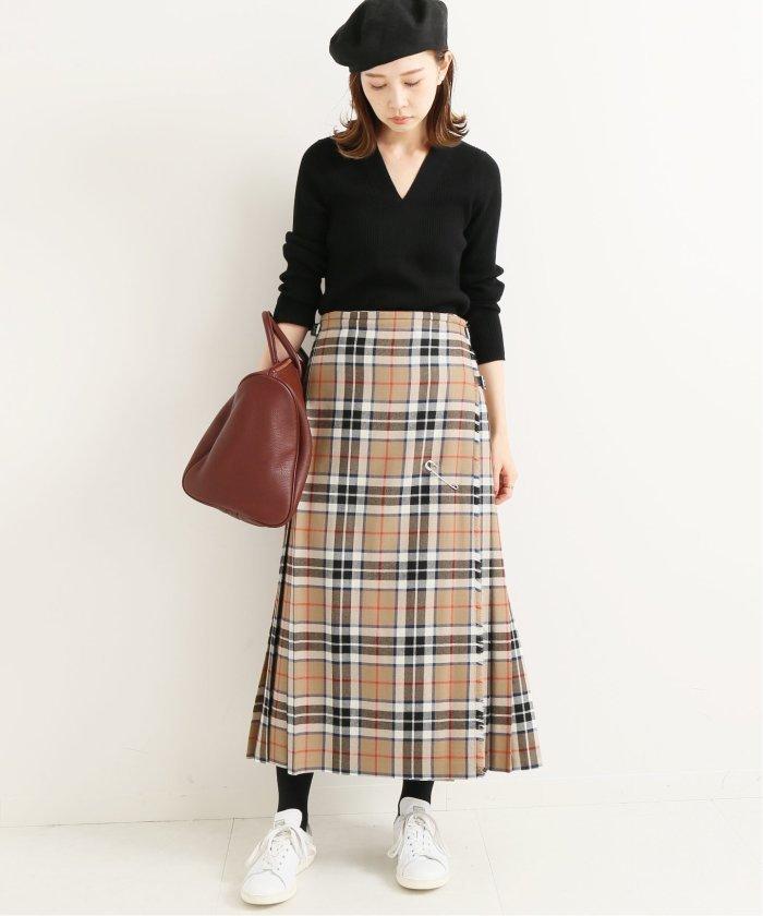 【2019年秋】チェックのスカートのコーデ