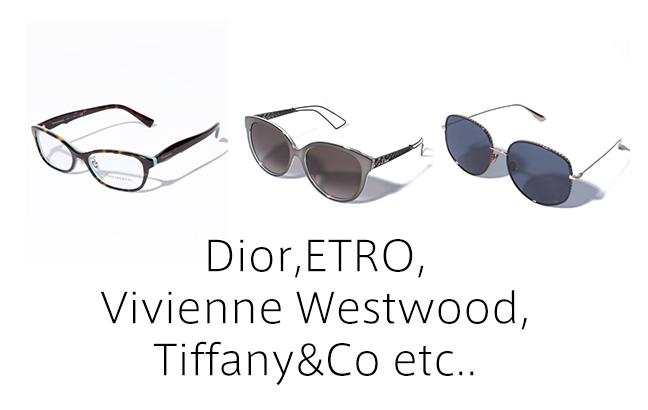 Dior,Vivienne Westwood,ETAO,Tiffany&Co etc..