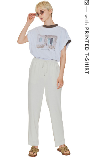 with PRINT T-SHIRT