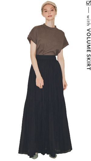 with VOLUME SKIRT
