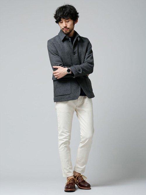 気温13度 ウールジャケット 服装 画像1