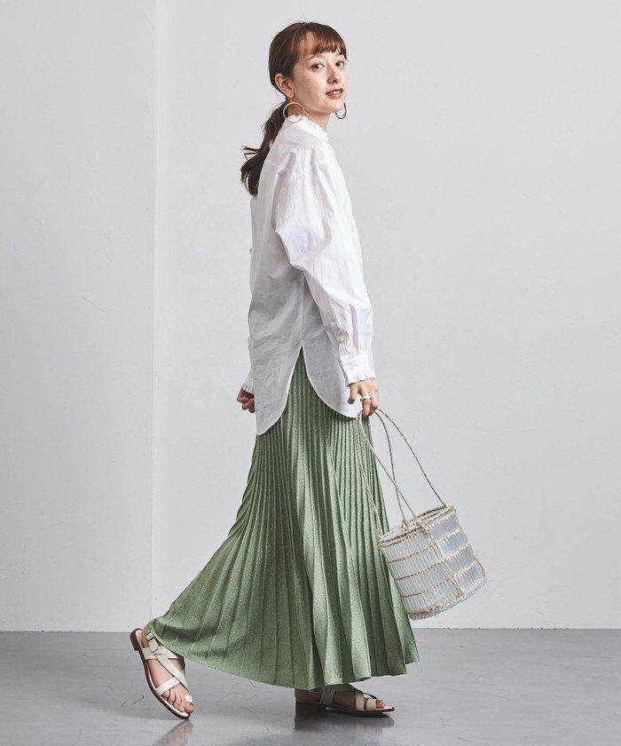 UWCC ラメ ニットプリーツ スカート